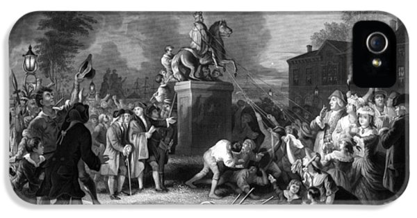 Pulling Down The Statue Of George IIi IPhone 5 / 5s Case by War Is Hell Store