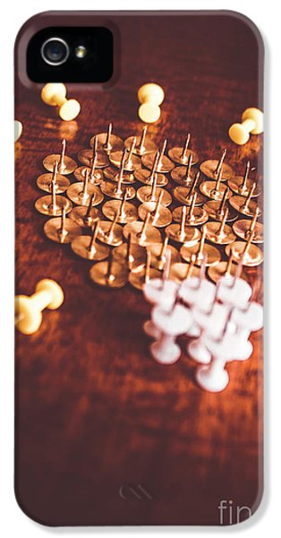Pushpins And Thumbtacks Arranged As Light Bulb IPhone 5 Case by Jorgo Photography - Wall Art Gallery