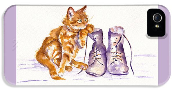 Cat iPhone 5 Case - Puss 'n Boots by Debra Hall