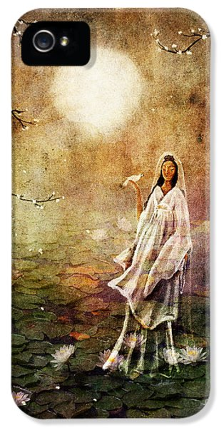 Quan Yin In A Lotus Pond IPhone 5 Case by Laura Iverson