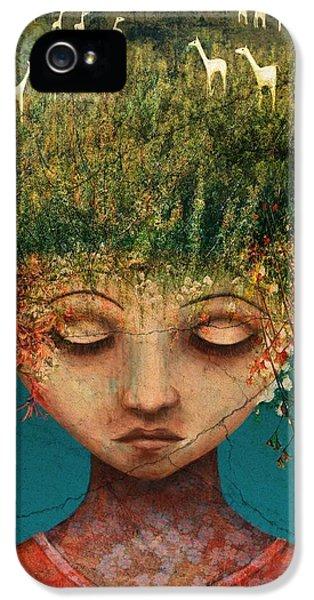 Llama iPhone 5 Case - Quietly Wild by Catherine Swenson