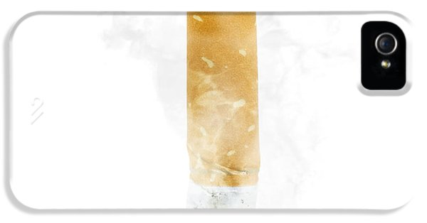 Quit Smoking With Stubbed Out Cigarette On White IPhone 5 Case by Jorgo Photography - Wall Art Gallery