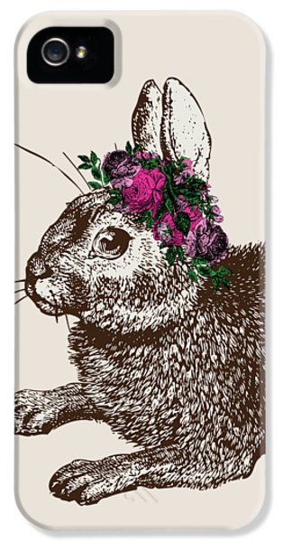 Rabbit And Roses IPhone 5 / 5s Case by Eclectic at HeART