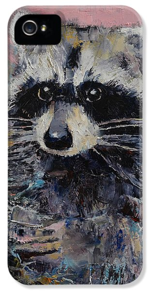 Raccoon iPhone 5 Case - Raccoon by Michael Creese