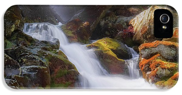 IPhone 5 Case featuring the photograph Race Brook Falls 2017 Square by Bill Wakeley