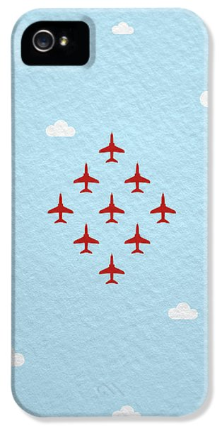 Hawk iPhone 5 Case - Raf Red Arrows In Formation by Samuel Whitton