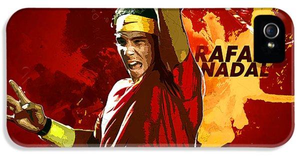 Rafael Nadal IPhone 5 Case by Semih Yurdabak