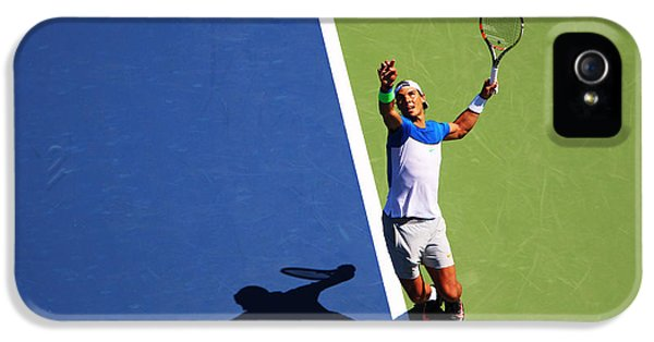 Rafeal Nadal Tennis Serve IPhone 5 Case by Nishanth Gopinathan
