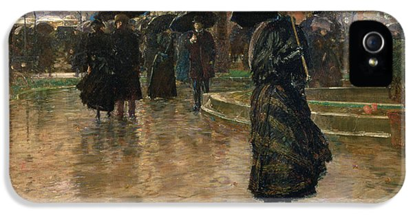 Rain Storm Union Square IPhone 5 Case by Childe Hassam