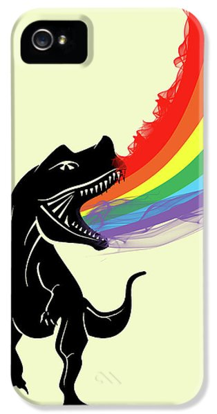 Rainbow Dinosaur IPhone 5 / 5s Case by Mark Ashkenazi