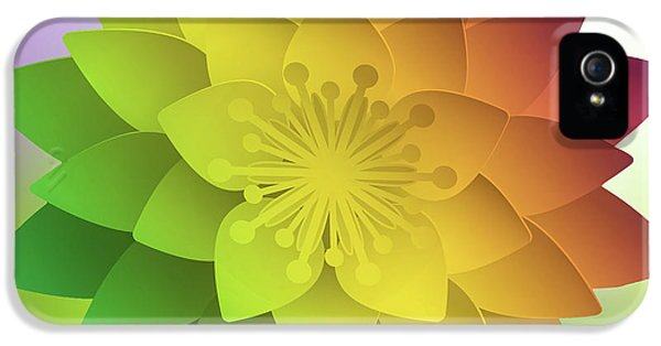 Rainbow Lotus IPhone 5 Case by Mo T