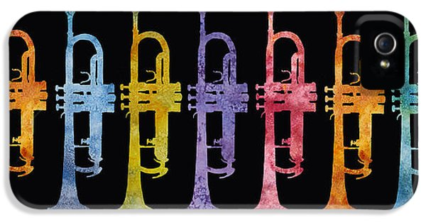 Rainbow Of Trumpets IPhone 5 Case by Jenny Armitage