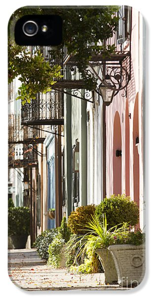 Rainbow Row Charleston Sc 2 IPhone 5 / 5s Case by Dustin K Ryan