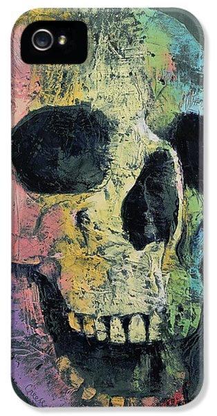 Happy Skull IPhone 5 Case by Michael Creese