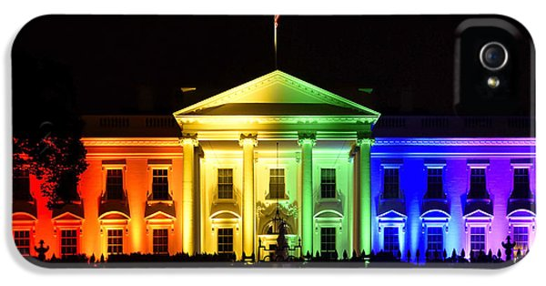 Washington D.c iPhone 5 Case - Rainbow White House  - Washington Dc by Brendan Reals