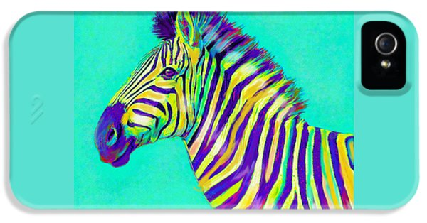 Rainbow Zebra 2013 IPhone 5 / 5s Case by Jane Schnetlage