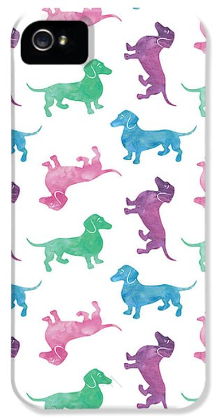 Raining Dachshunds IPhone 5 / 5s Case by Antique Images