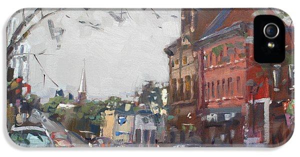 Rainy Day In Downtown Brampton On IPhone 5 Case by Ylli Haruni