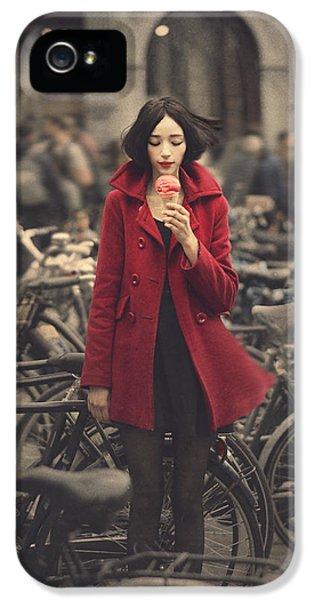 Bicycle iPhone 5 Case - raspberry sorbet in Amsterdam by Anka Zhuravleva