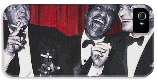 Rat Pack IPhone 5 Case by Luis Ludzska