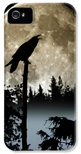 Raven Moon IPhone 5 Case by Myrtle Winchester
