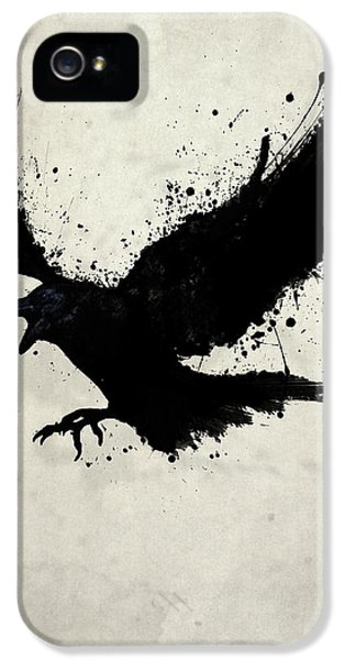 Sketch iPhone 5 Cases - Raven iPhone 5 Case by Nicklas Gustafsson