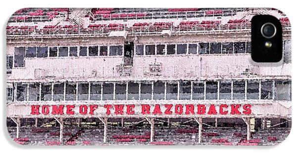 Razorback Stadium IPhone 5 Case by JC Findley