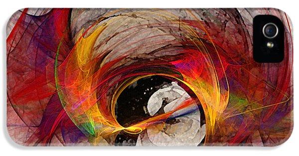 Illustrative iPhone 5 Case - Reaction Abstract Art by Karin Kuhlmann