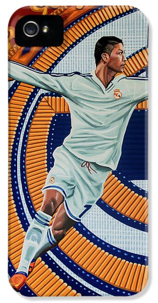 Real Madrid Painting IPhone 5 Case by Paul Meijering