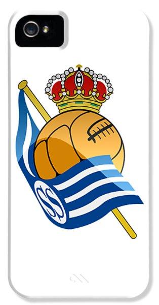 Real Sociedad De Futbol Sad IPhone 5 Case by David Linhart