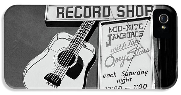 Guitar iPhone 5 Case - Record Shop- By Linda Woods by Linda Woods