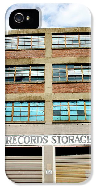 Office Buildings iPhone 5 Case - Records Storage- Nashville Photography By Linda Woods by Linda Woods