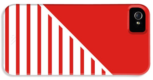 Red And White Triangles IPhone 5 / 5s Case by Linda Woods