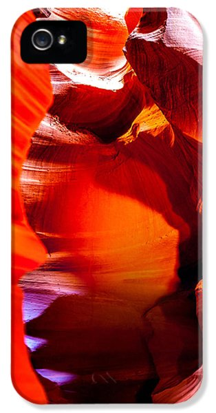 Red Canyon Walls IPhone 5 Case by Az Jackson