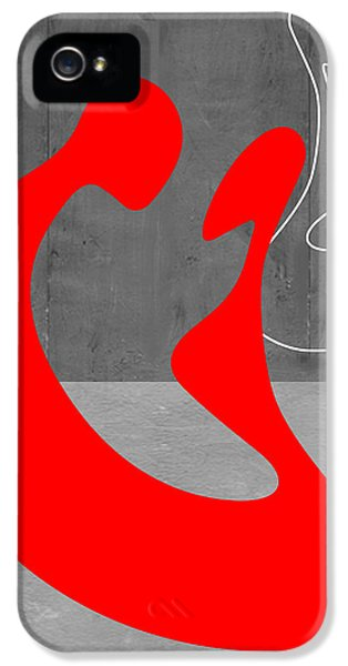 Red Couple IPhone 5 Case by Naxart Studio