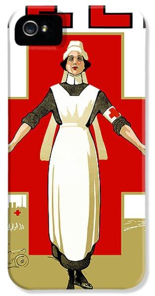 Cross iPhone 5 Case - Red Cross Nurse - Help by War Is Hell Store