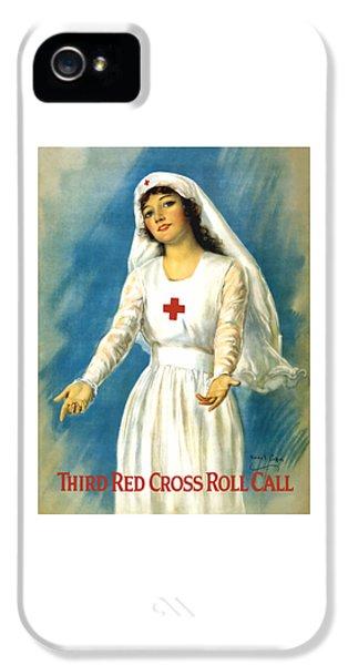 Red Cross Nurse - Ww1 IPhone 5 Case by War Is Hell Store
