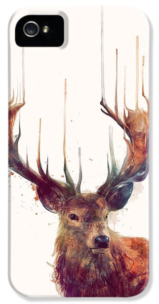 Red Deer IPhone 5 Case by Amy Hamilton