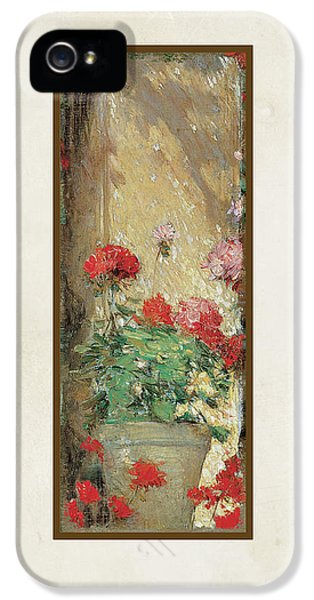 Red Geranium Pots IPhone 5 Case by Audrey Jeanne Roberts
