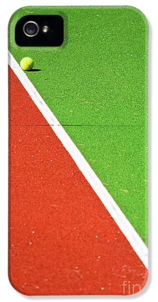 Red Green White Line And Tennis Ball IPhone 5 Case