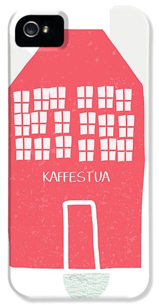 Red Kaffestua- Art By Linda Woods IPhone 5 Case