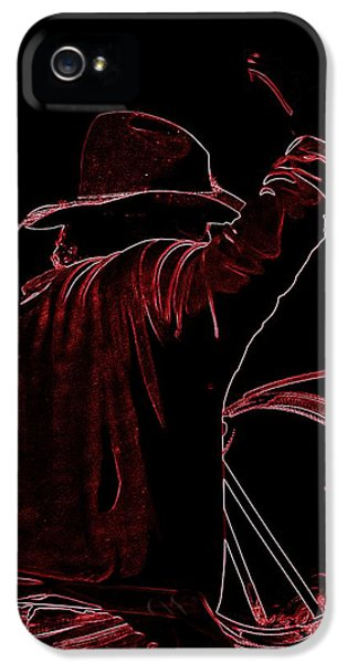 Red Maverick IPhone 5 Case by Running J