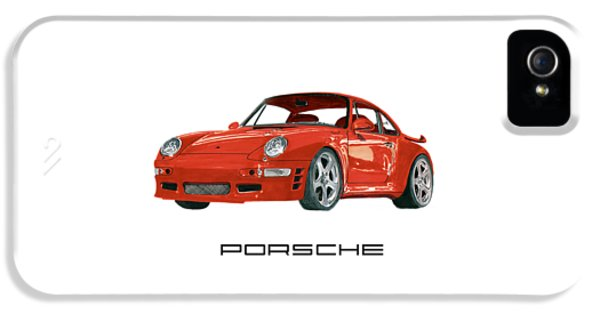 Red Porsche 993 1997 Twin Turbo R IPhone 5 Case