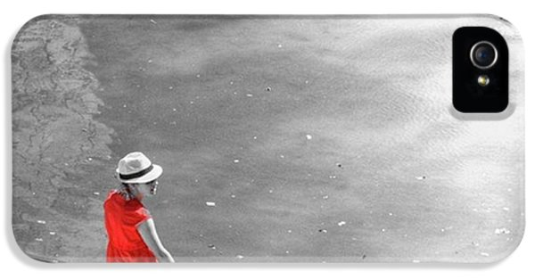 Red Shirt, Black Swanla Seu, Palma De IPhone 5 Case