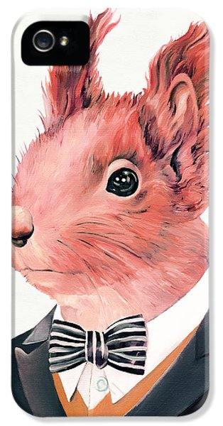 Red Squirrel IPhone 5 / 5s Case by Animal Crew