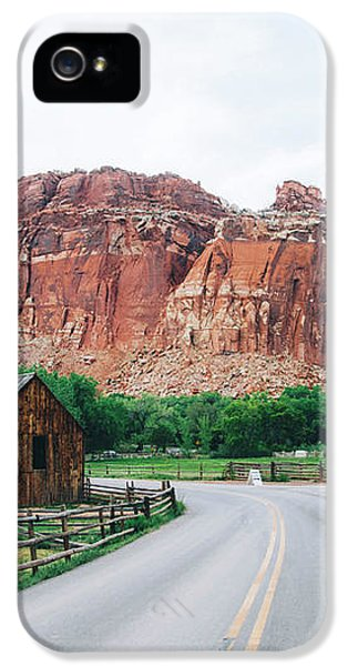 Red Stone Mountain  IPhone 5 Case by Happy Home Artistry
