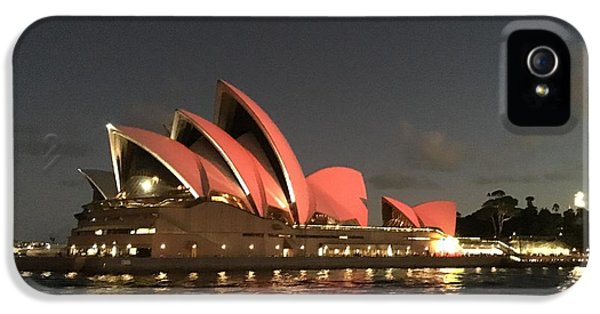 Red Sydney Opera House IPhone 5 / 5s Case by Sandy Taylor