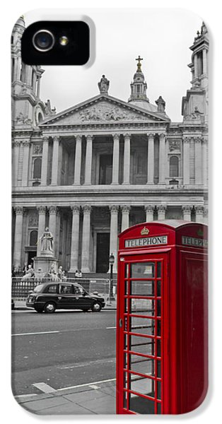 Red Telephone Boxes In London IPhone 5 Case