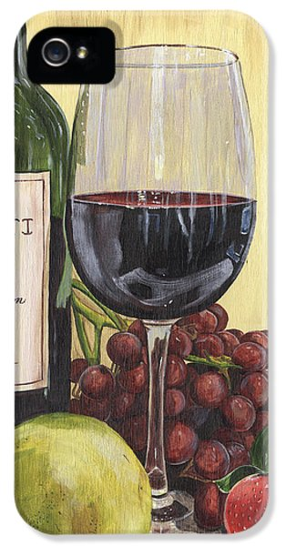 Red Wine And Pear 2 IPhone 5 Case by Debbie DeWitt