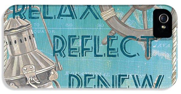 Relax Reflect Renew IPhone 5 Case by Debbie DeWitt